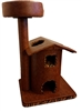 Honey Tiger Queen's Kastle II Luxury Cat Tower w/ Cat Bed