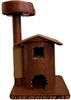Honey Tiger Queen's Kastle Luxury Cat Tower w/ Cat Bed