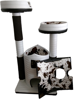 Ivory Evelyn Queen's Kastle Deluxe Luxury Cat Tower w/ (2) Cat Bed