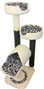 K2B IVORY ZEBRA Luxury Cat Tower w/ (2) Cat Bed