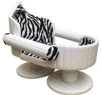 Ivory Zebra Luxury Cat Bed and Dog Bed
