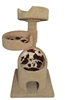 KB2-Fur Luxury Cat Tower w/ (2) Cat Bed