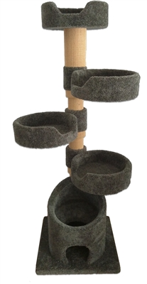 KB4 Cat Tower w/ (4) Cat Bed
