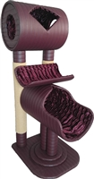 KTP Royal Burgundy Luxury Cat Tower