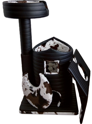 Onyx Evelyn Queen's Kastle Luxury Cat Tower w/ Cat Bed