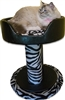 Onyx Zebra Hybernest Deluxe Custom Cat Bed