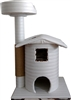 Ivory Sahara Queen's Kastle Luxury Cat Tower w/ Cat Bed