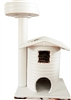 Ivory Sahara Queen's Kastle Luxury Cat Tower w/ Cat Bed (No Sisal)