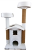Ivory Sahara Queen's Kastle Deluxe Luxury Cat Tower w/ (2) Cat Bed