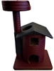 Burgundy Leopard Queen's Kastle II Luxury Cat Tower w/ Cat Bed