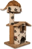 Queen's Kastle (Carpet) Cat Tower w/ Cat Bed