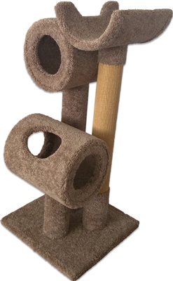 TP1 Deluxe Cat Tower w/ (2) Cat Bed & Cat Perch