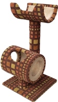 TP1 Cat Play Tunnel & Cat Perch Retro Two-Tone