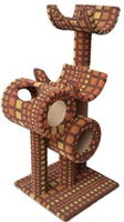 TP2 Deluxe Retro Cat Tower w/ (2) Cat Tunnel & (2) Cat Perch