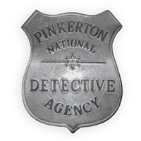 Pinkerton National Detective Agency Badge