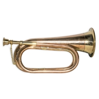 Brass and Copper Theatrical Prop Bugle