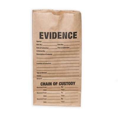 Small Paper Evidence Bag - Set of 3