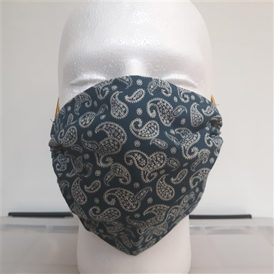 Western Bandanna Face Mask (Blue)