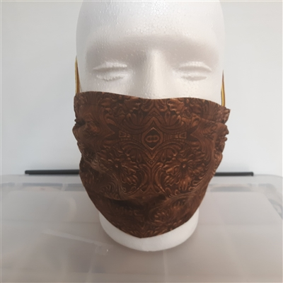 Western Faux Leather Face Mask