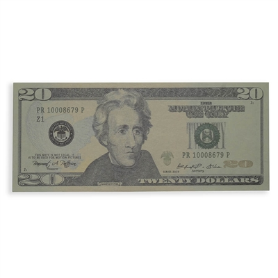 Prop Movie Money - $2,000 Stack Full Print (20s)