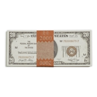 Prop Movie Money - $2,000 Stack Full Print (1920s series)