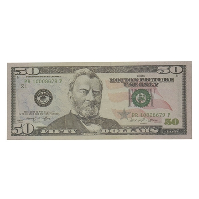 Prop Movie Money - $5,000 Stack Full Print (New 50s)