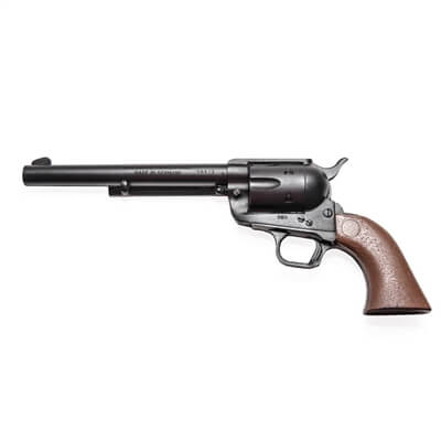 "Single Action Revolver with 7 1/2"" Barrel Rubber Gun"