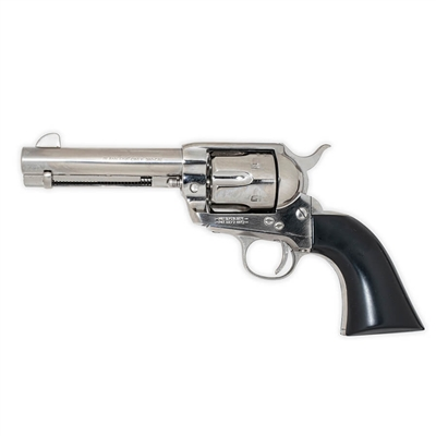 Californian 1873 Single Action Blank-Firing Revolver - Special Edition - Nickel with Black Wood Grip