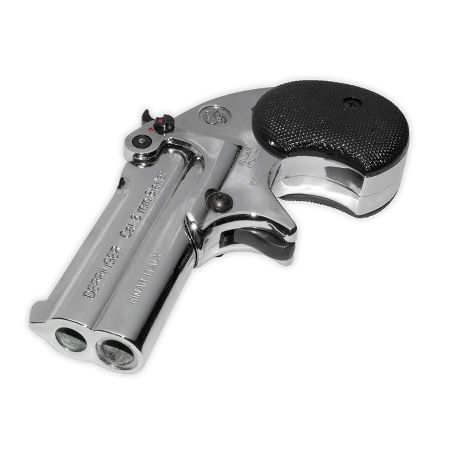 Derringer Blank-Firing Replica - Nickel Finish