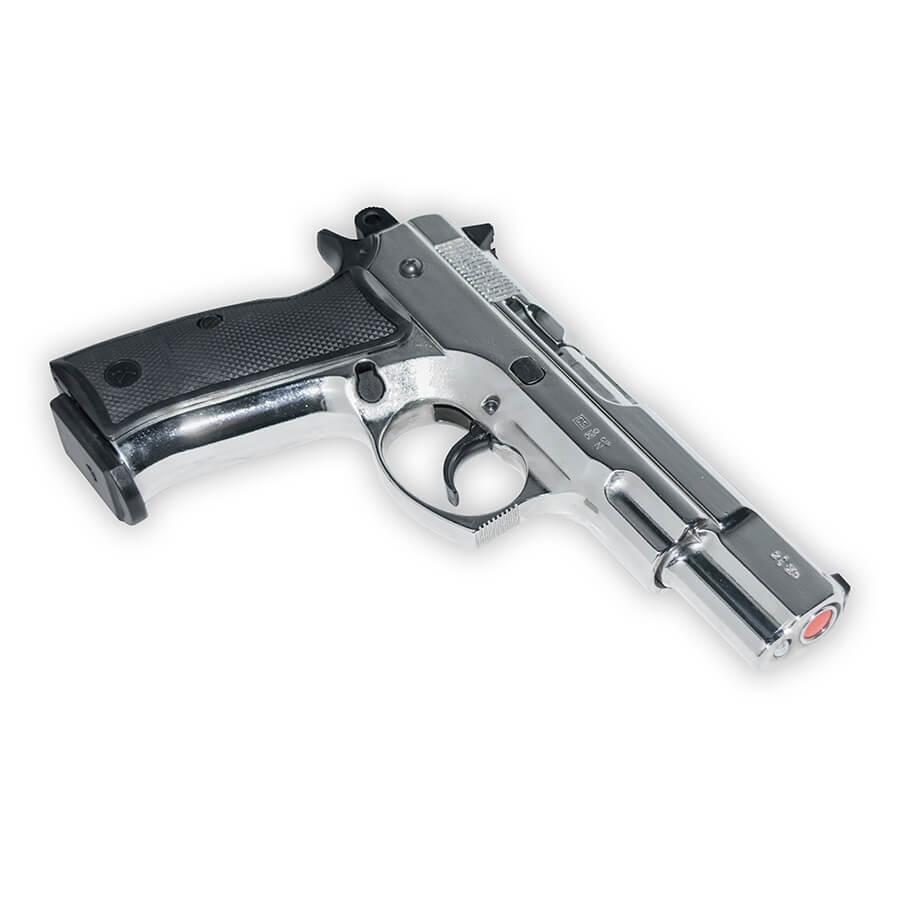 CZ 75 Blank-Firing Semi-Auto Pistol - Chrome Finish
