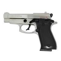 Beretta 85 Blank-Firing Semi-Auto Pistol - Chrome Finish