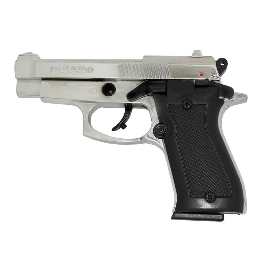 Beretta 85 Blank-Firing Semi-Auto Pistol - Chrome Finish