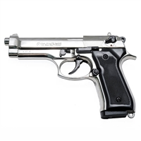 Beretta 92F Blank-Firing Semi-Auto Pistol - Chrome Finish
