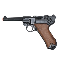 The Luger Pistole Parabellum is a German-made semi-automatic pistol used by Germany throughout the first half of the 20th century. Though frequently associated with Nazis, the gun has also been used as the archetype for futuristic weaponry in the science