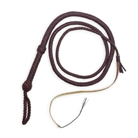 Cowhide bullwhip made from genuine leather