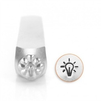 Impress Art Lightbulb Metal Design Stamp - SGSC1510-AB-6MM