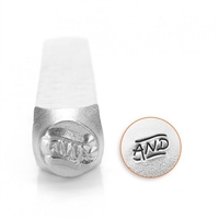 "Impress Art ""And"" Word Metal Design Stamp - SGSC1510-AI-6MM"
