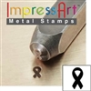 Impress Art Breast Cancer Ribbon Metal Design Stamp - SGSC1510-L-4MM