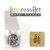 Impress Art Skull and Bones Metal Design Stamp - SGSC1515-A-6MM