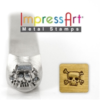 Impress Art Skull and Cross Bones Metal Design Stamp - SGSC1515-D-6MM