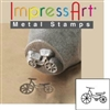 Impress Art Vintage Tricycle Metal Design Stamp - SGSC155-D-6MM