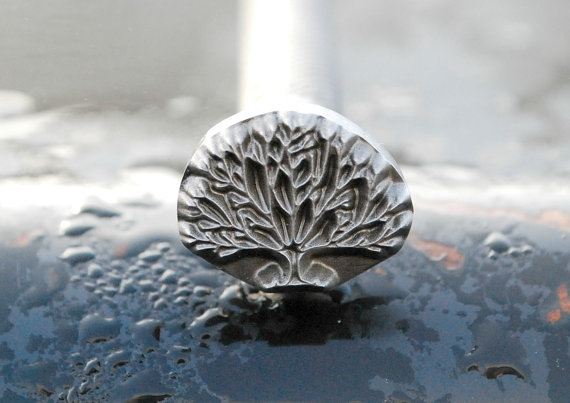 Tree Of Life Metal Design Leather Stamp Sg Leather