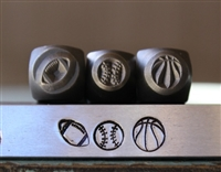 Brand New Supply Guy Design - 5mm and 6mm Football, Baseball & Basketball Sport Metal Design 3 Stamp Set - SGCH-236188245