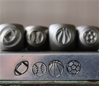 Brand New Supply Guy Design - 5mm and 6mm Sport Ball Metal Design 4 Stamp Set - SGCH-236188245311