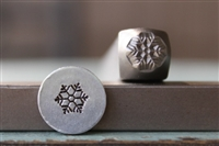 Brand New Supply Guy Design - 6mm Snowflake Metal Design Stamp - SGCH-257