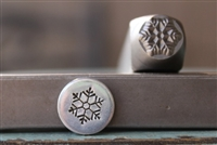 Brand New Supply Guy Design - 8mm Snowflake Metal Design Stamp - SGCH-258