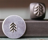 Brand New Supply Guy Design - 5mm Simple Pine Tree 1 Metal Design Stamp - SGCH-278