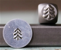 Brand New Supply Guy Design - 5mm Simple Pine Tree 2 Metal Design Stamp - SGCH-279