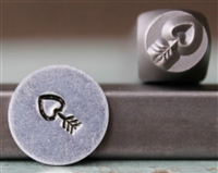 Brand New Supply Guy Design - 6mm Heart Arrow Metal Design Stamp - SGCH-282