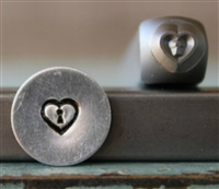 A Supply Guy Design - Heart Keyhole Metal Design Stamp - SGCH-312